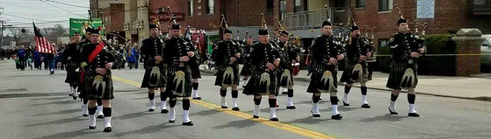 Pipe bands performing at Trump events