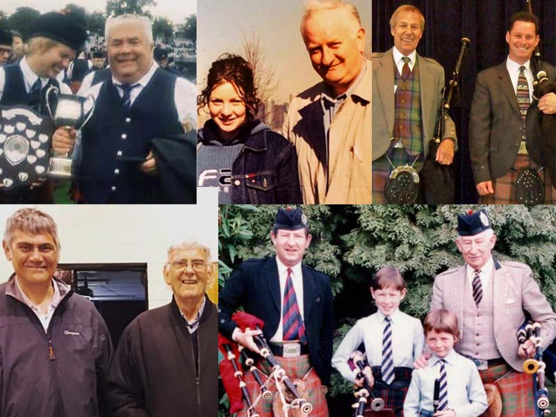 Grand all together! A salute to piping and drumming fathers worldwide