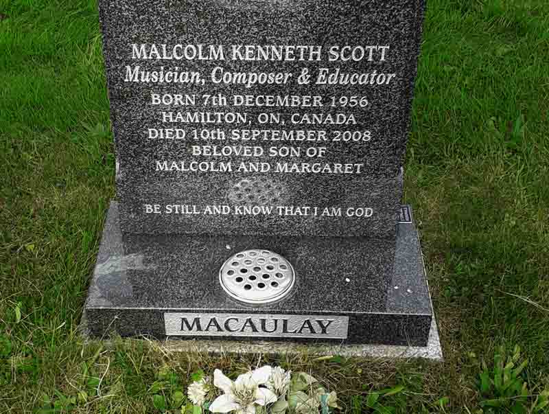 Lodgings on a Cold Ground: Scott MacAulay's final resting place