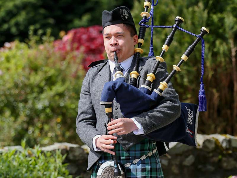 Calum Brown wins all five top piping events in Shotts online solos