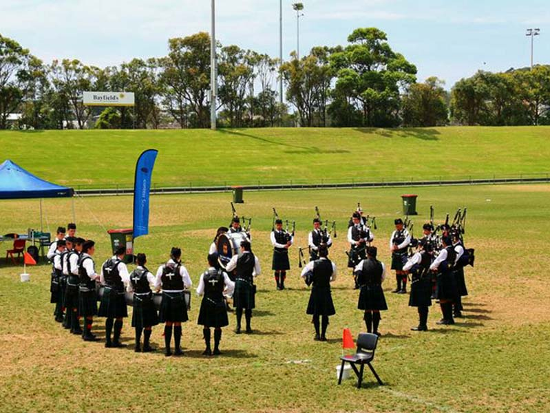 Live and in-person: a pipe band competition