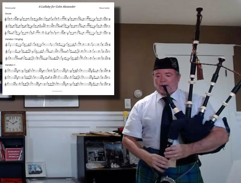 A piping history first? Bruce Gandy plays (and gets a prize with) his own piobaireachd in competition