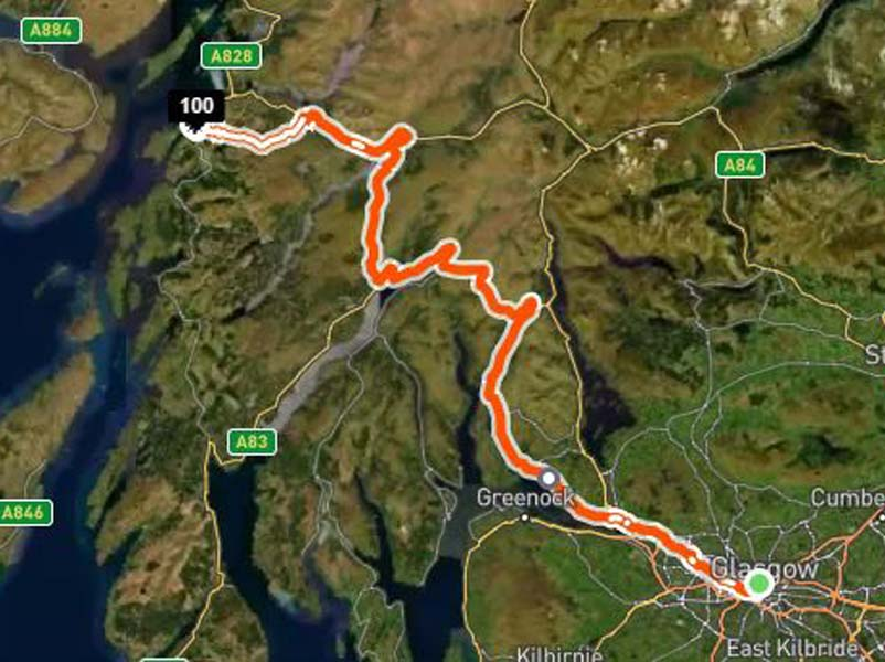 Johnston and Bruce put their mettle to the pedal in Cycle for Tommy Glasgow-to-Oban fundraiser